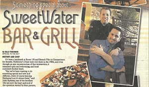 Burlington County Times article about SweetWater